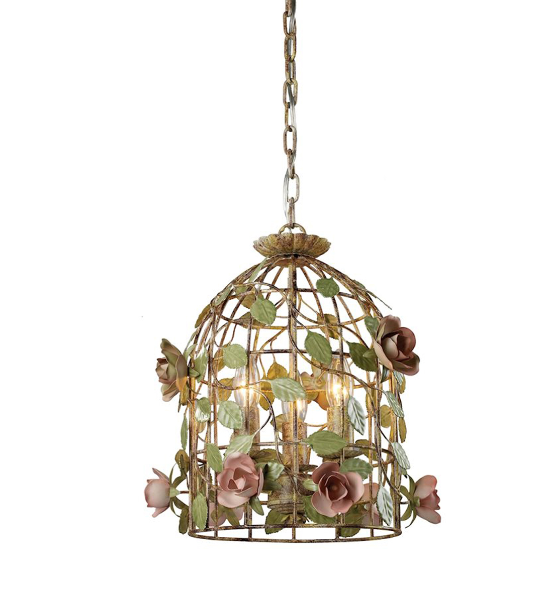 STERLING HOME - Rose Vine Iron Cage